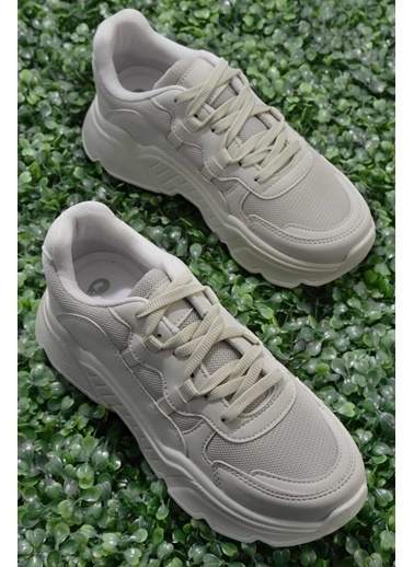 Bambi Nubuk Kadın Sneaker K01876011071 Bej